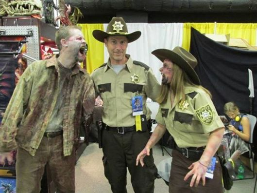 Tom Wood and his zombie friends