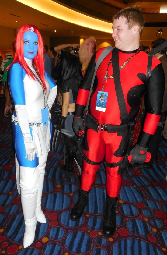 MYSTIQUE  This unmasked Deadpool is totally photo bombing my spot!