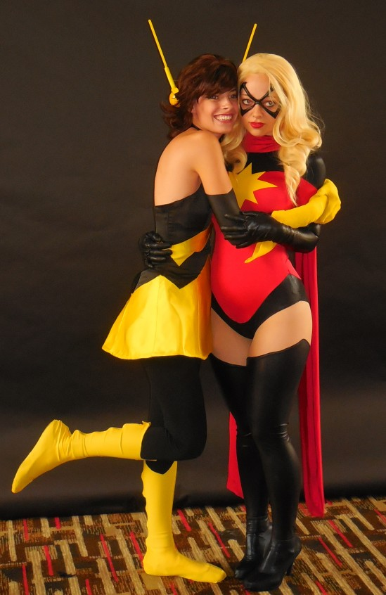 Wasp and Miss Marvel! This was the cutest pic I took.