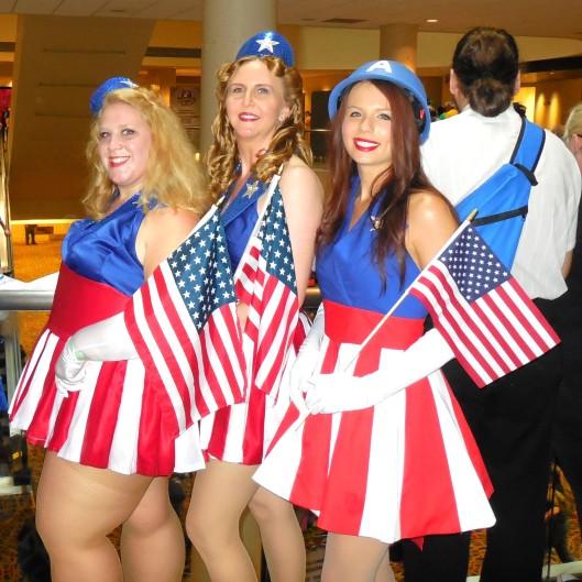 The Captain America girls